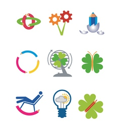 Creativity ecology icons vector image