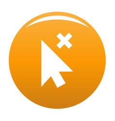 cursor close element icon orange vector image