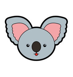 Cute koala face cartoon vector