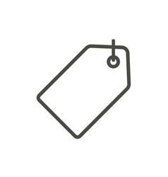 discount tag icon line retail sale symbol vector image