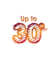 Discount up to 30 off label sale line gradient vector