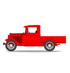 Early pickup truck vector