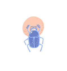 Egyptian scarab icon ancient symbol sun vector