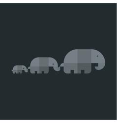 Elephants geometry stylish logo sign vector image