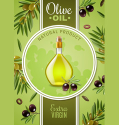 Extra virgin olive oil poster vector