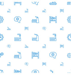 Factory icons pattern seamless white background vector