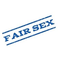 Fair Sex Watermark Stamp vector image