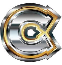 Fancy font Letter C vector image