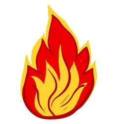 fire drawing on white background vector image