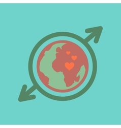 flat icon on stylish background Earth gays symbol vector image