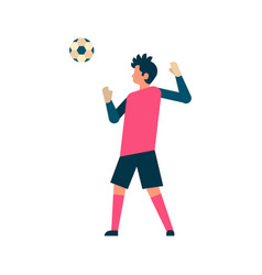Football player goalkeeper hitting ball isolated vector