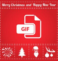 gif icon vector image