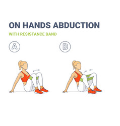 Girl doing on hands hips and knees abductions home vector