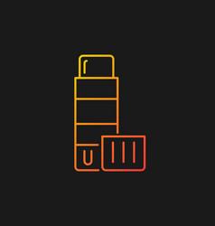 Glue stick gradient icon for dark theme vector