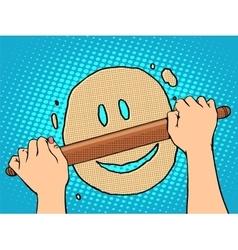 Good dough smiley face vector image