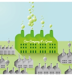 Green Company and Factory abstract Background vector