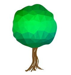 Green Polygonal Tree vector image