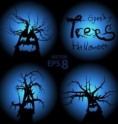 Halloween trees vector