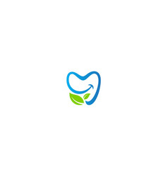 happy dental fresh eco logo vector image