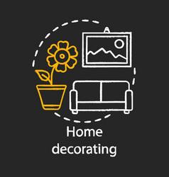 Home decorating chalk concept icon home service vector