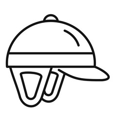 Horseback riding helmet icon outline style vector