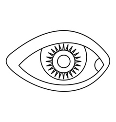 Human eye icon simple style vector