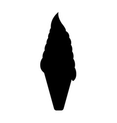 ice cream icon fantasy world of the unicorn black vector image