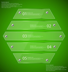 Infographic template with hexagon from five glass vector image