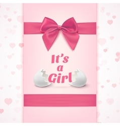 Its a girl template for baby shower celebration vector