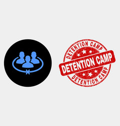 jailed persons icon and distress detention vector image
