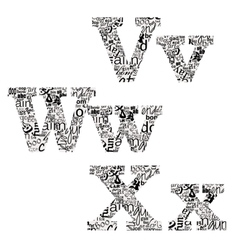letters of different fonts vector image
