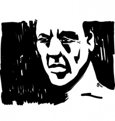 Man face in shadow vector