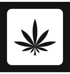 Marijuana leaf icon simple style vector