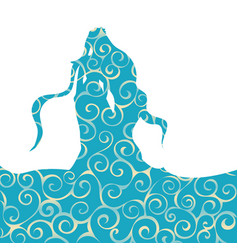 naiad water nymph pattern silhouette ancient vector image