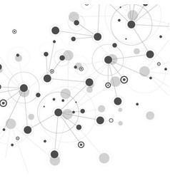 network and connection design background vector image