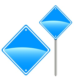 New road sign vector image