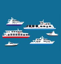 passenger sea cruise liner ships yachts marine vector image