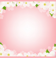 pink background with flowers vector image