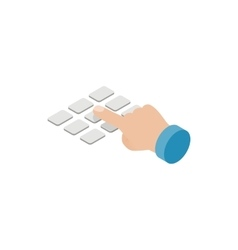 Press ATM EPP keyboard icon isometric 3d style vector