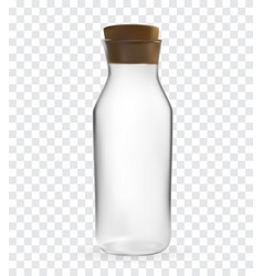 realistic 3d model of glass bottle with lid on vector image
