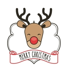 reindeer icon Merry Christmas design vector image