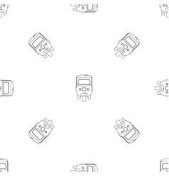 rickshaw icon outline style vector image