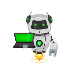 robot with artificial intelligence bot vector image