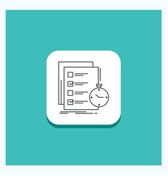 Round button for todo task list check time line vector
