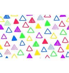 seamless doodle triangle pattern vector image