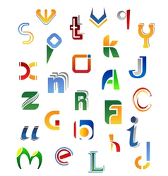 Set of full alphabet symbols from a to z vector