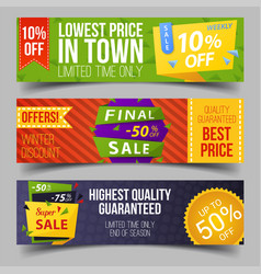 set of isolated labels for limited winter offer vector image