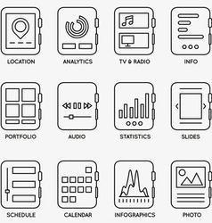 Set of kits of mobile watch - part 2 vector