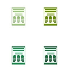 Set of paper stickers on white background document vector image