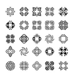set of tribal black and white patterns vector image